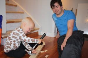 Småsnekkern og pappan